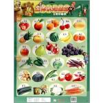 华图少儿·熊出没立体认知挂图:水果和蔬菜